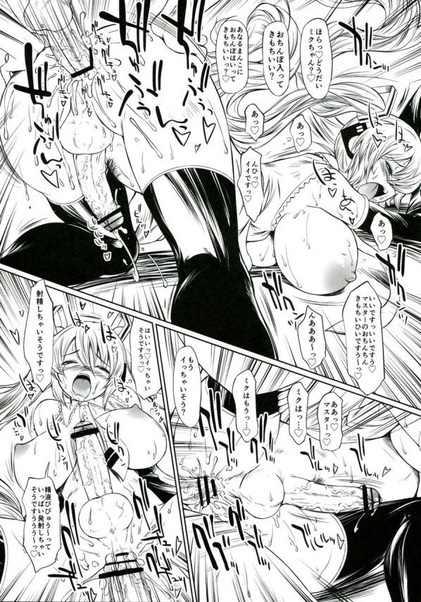 ゴミ捨て場から拾って来たボカロのミクちゃんがフタナリだったんだけど、ついついミクちゃんのアナルにも入れちゃったwwww【VOCALOID エロ漫画・エロ同人誌】 (20)