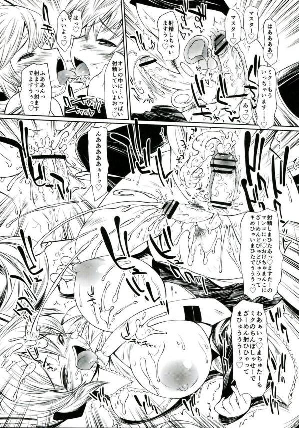 ゴミ捨て場から拾って来たボカロのミクちゃんがフタナリだったんだけど、ついついミクちゃんのアナルにも入れちゃったwwww【VOCALOID エロ漫画・エロ同人誌】 (18)