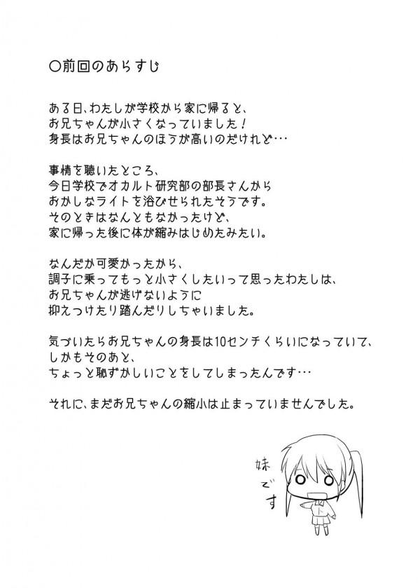 巨乳かわいい女子校生の妹と小さくなってしまった兄のマニアックエッチ漫画だお☆ 01