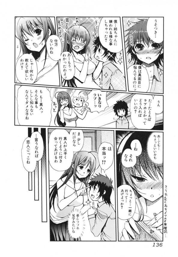 【エロ漫画・エロ同人】弟と恋人ごっこをすることにした巨乳な姉だったが、エッチに求められて近親相姦セックスしちゃうwww (4)