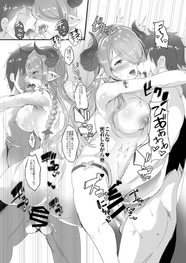 水着姿のナルメアお姉ちゃんと密着して勃起した団長だったがその場でセックスが始まってしまうww【グラブル エロ漫画・エロ同人】 (15)