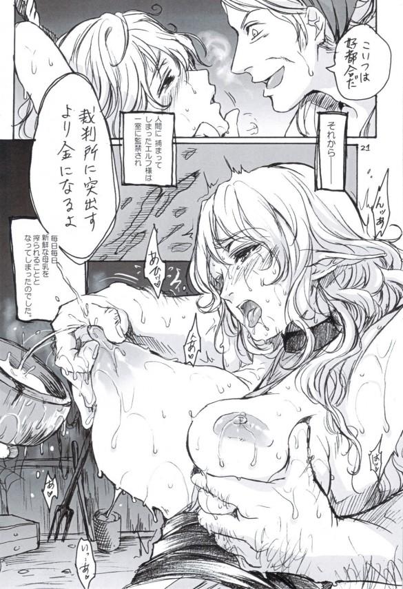 【エロ漫画】巨乳のエルフがエロ過ぎたから犯しまくって人間チンポの味を覚えさせてやったw【無料 エロ同人誌】 (20)