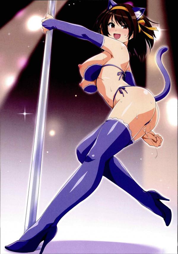 ハルヒが色んな作品のコスプレをエッチに着こなすフルカラーのイラスト集!!【涼宮ハルヒの憂鬱 エロ漫画・エロ同人】 (6)