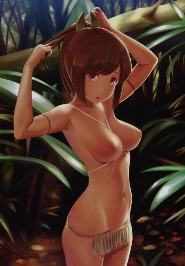 アマゾンの集落に暮らす褐色の艦娘たちとフルカラーでハメハメしちゃったw【艦これ エロ漫画・エロ同人】 (11)