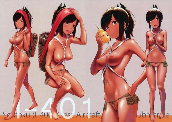 アマゾンの集落に暮らす褐色の艦娘たちとフルカラーでハメハメしちゃったw【艦これ エロ漫画・エロ同人】 (3)