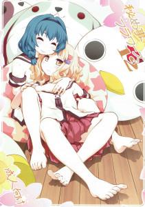向日葵と櫻子が百合エッチをすることにし、櫻子はゆっくり服を脱がされて焦らされる!!【ゆるゆり エロ漫画・エロ同人】
