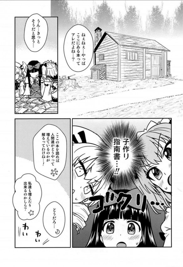 エロ本を拾った妖精三人は子作りに興味を持ち、人間の男の人に教わることにwww【東方 エロ漫画・エロ同人】 (2)