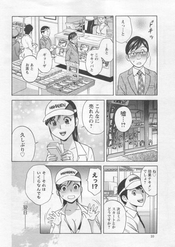 【エロ漫画】店の売り上げのためにも爆乳お姉さんに露出を上げてもらうと閉店後には激しくセックスする!! (8)