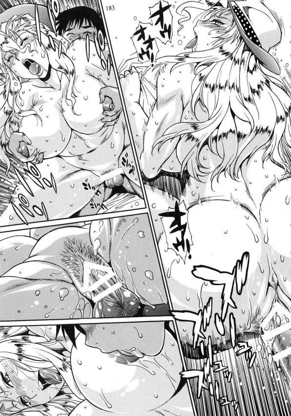 【エロ同人】日米女子プロレスラーが暴走ちんぽを教育するために4Pセックスでお仕置きしちゃう☆ワールドチャンピオンの締まったエロボディを目の前に理性が吹っ飛んじゃうwwwww (182)