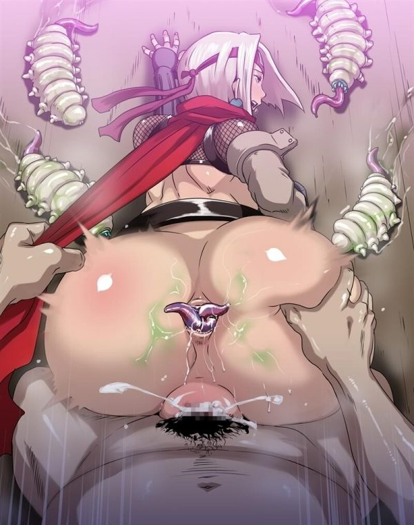 【エロ同人】セックス忍者の禊ちゃんが精魔忍の男達に大量のザーメン顔射ぶっかけされたりパイパンマンコ中出し輪姦されまくって肉便器にされてるよアナルファックまでされてザーメンが口から逆流しちゃってる~wwww (63)