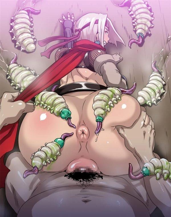 【エロ同人】セックス忍者の禊ちゃんが精魔忍の男達に大量のザーメン顔射ぶっかけされたりパイパンマンコ中出し輪姦されまくって肉便器にされてるよアナルファックまでされてザーメンが口から逆流しちゃってる~wwww (61)