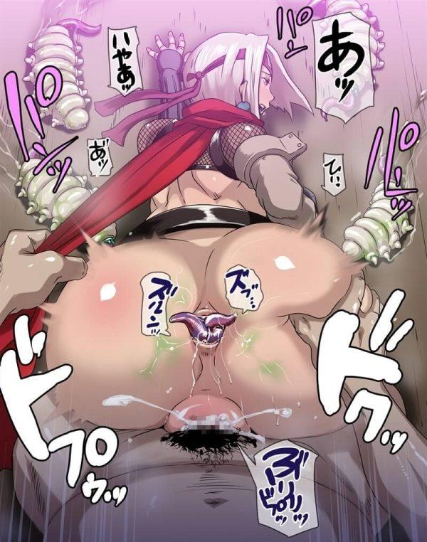 【エロ同人】セックス忍者の禊ちゃんが精魔忍の男達に大量のザーメン顔射ぶっかけされたりパイパンマンコ中出し輪姦されまくって肉便器にされてるよアナルファックまでされてザーメンが口から逆流しちゃってる~wwww (47)
