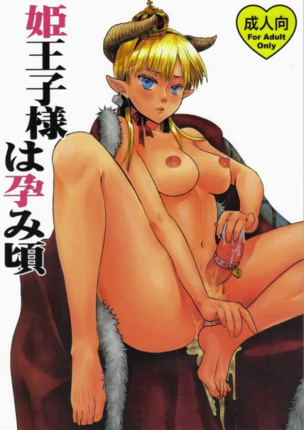 【エロ漫画・エロ同人誌】先代が産んだ獣人に異種姦されて兄弟精子を種付けされたフタナリ巨乳な姫王子はボテ腹妊娠してもセックスし続けて、肉便器として奉仕することとなる・・・ (1)