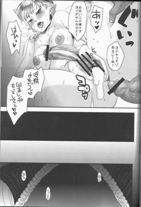 【エロ漫画・エロ同人誌】先代が産んだ獣人に異種姦されて兄弟精子を種付けされたフタナリ巨乳な姫王子はボテ腹妊娠してもセックスし続けて、肉便器として奉仕することとなる・・・ (28)