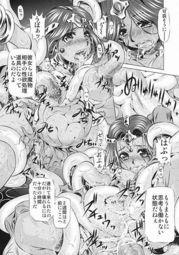 【エロ同人誌 ドラクエⅣ】女勇者が男根2本挿しされたりフィストファックされてレイプされまくってる~w【有害図書企画 エロ漫画】 (16)