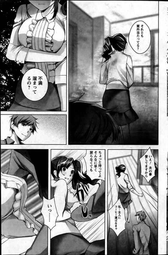 【エロ漫画】兄貴が仕事に集中している隙に兄の嫁さんとNTRセックスww【かいとうぴんく エロ同人】 (9)