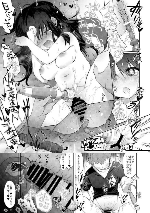 【エロ同人誌】女体化した元最強のアニキが彼氏のために拘束されて大人の玩具でパイパンマンコをイジメつくされてしまう!【中性まふまん♀ エロ漫画】 (18)