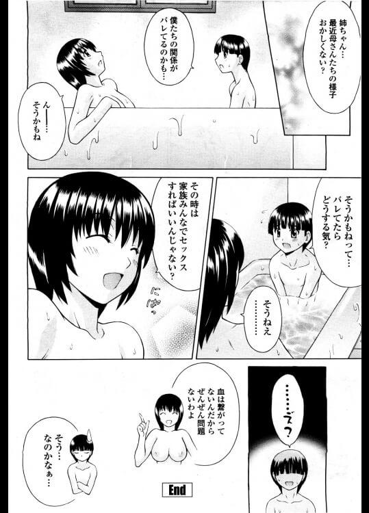 【エロ漫画】「お姉ちゃんのオマンコ使って溜まってるもの出しちゃいなさい。」って義姉がお尻を向けておまんこを拡げるから…【無料 エロ同人】 (16)