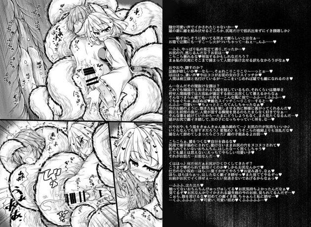 【エロ同人 東方】八雲藍お姉さんがショタちんこを手コキフェラして巨乳おっぱい丸出しでパイパンまんこに騎乗位で肉棒咥え込むw【無料 エロ漫画】 (6)